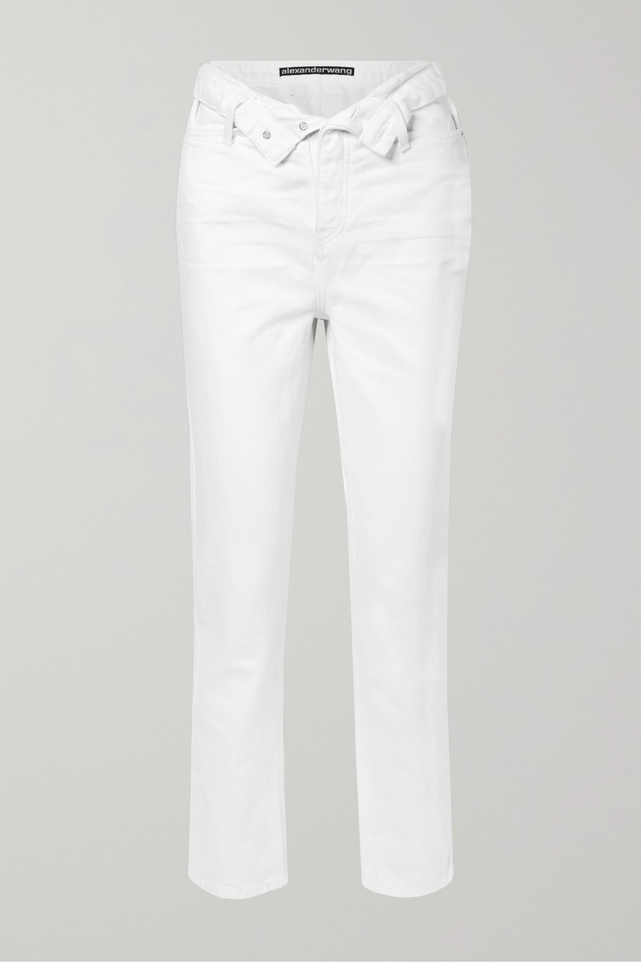 Alexander Wang Cult Flip fold-over high-rise straight-leg jeans