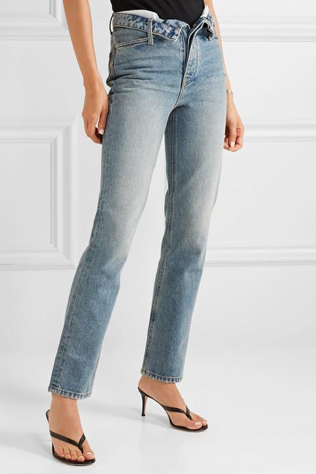 Cult Flip fold-over high-rise straight-leg jeans
