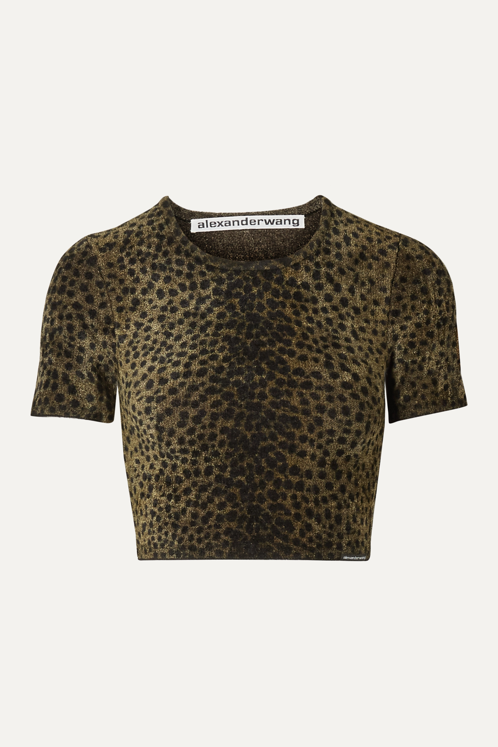 Alexander Wang Cropped animal-print chenille top