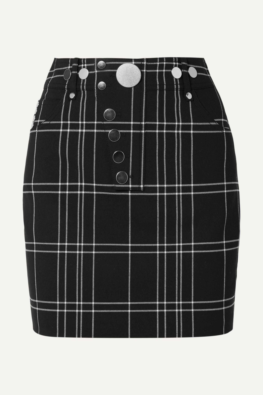 Alexander Wang Checked woven mini skirt