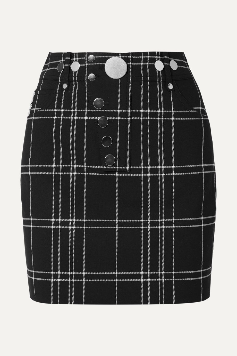 Alexander Wang Checked woven mini skirt