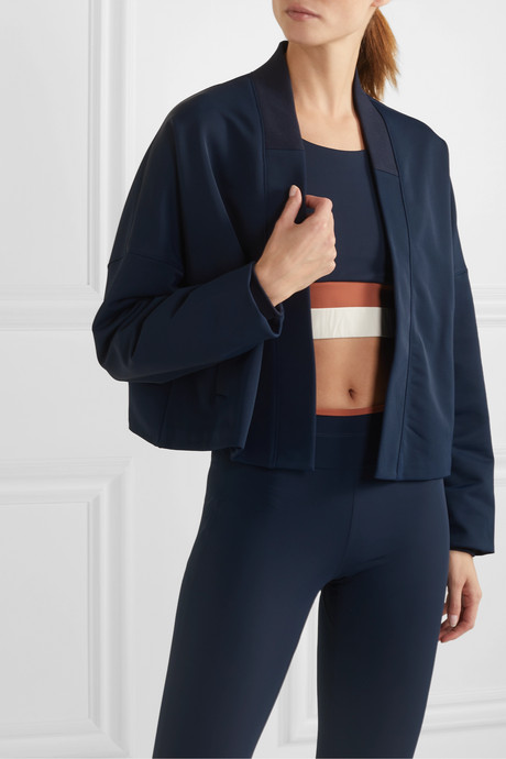 Collette stretch-jersey bomber jacket