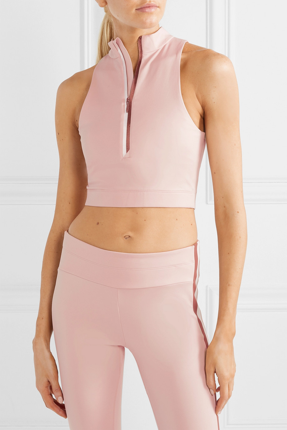 Vaara Willow cropped stretch top