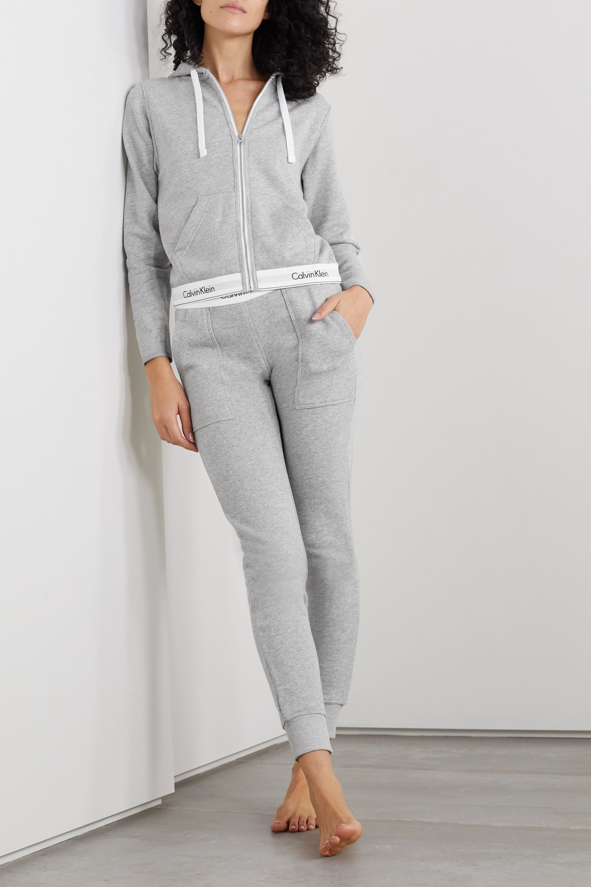 Calvin Klein Underwear Cotton-blend jersey hoodie