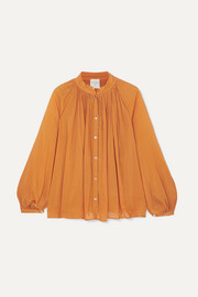 forte_forte Cotton and silk-blend voile blouse