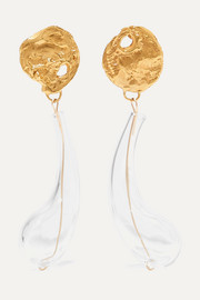The Distant Tear gold-plated and glass earrings