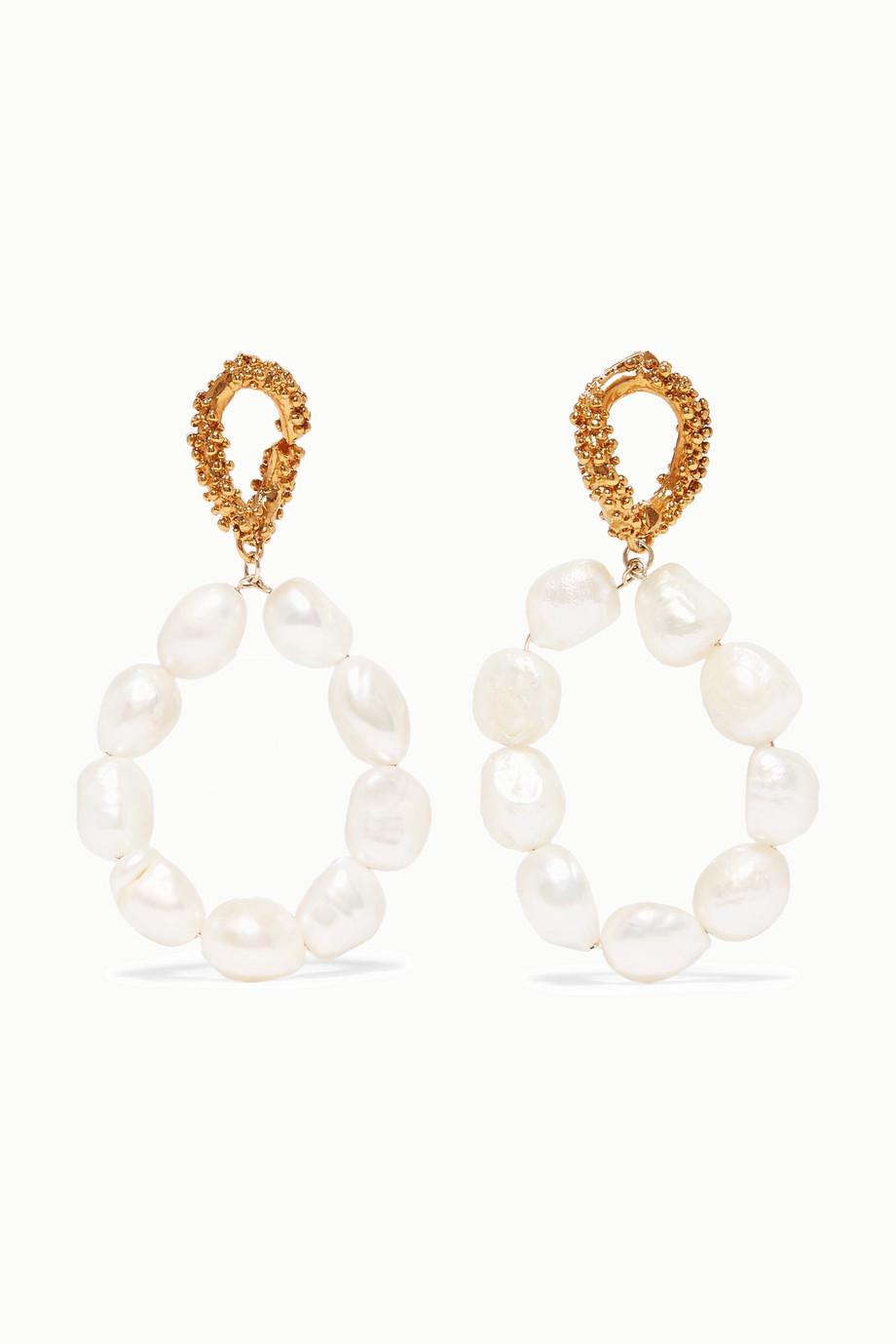 Alighieri Apollo's Dance gold-plated pearl earrings