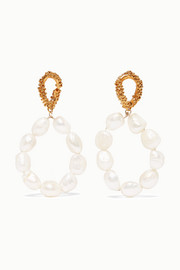 Alighieri Apollo's Dance gold-plated pearl earrings