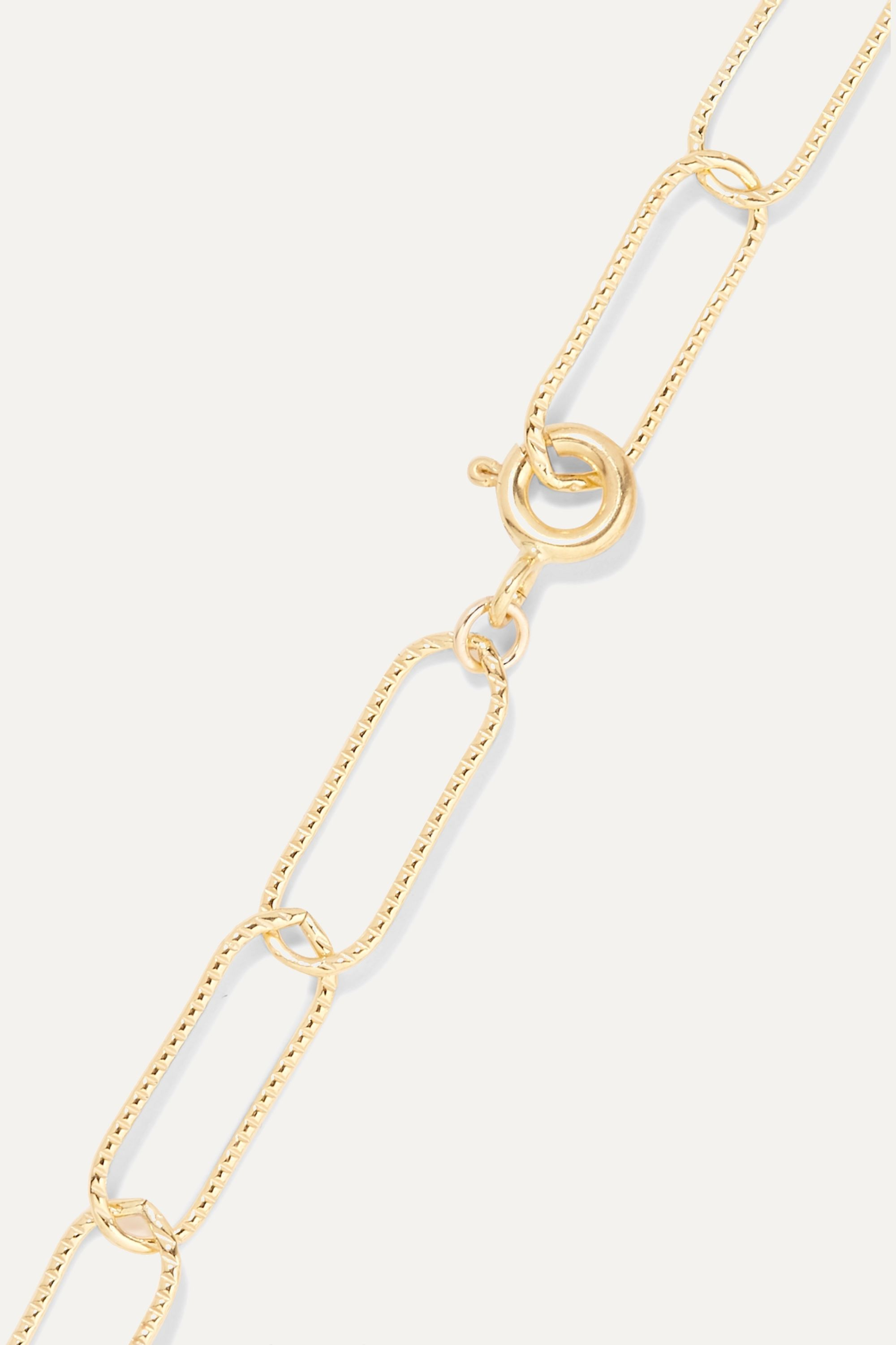 Alighieri The Talisman gold-plated pearl anklet