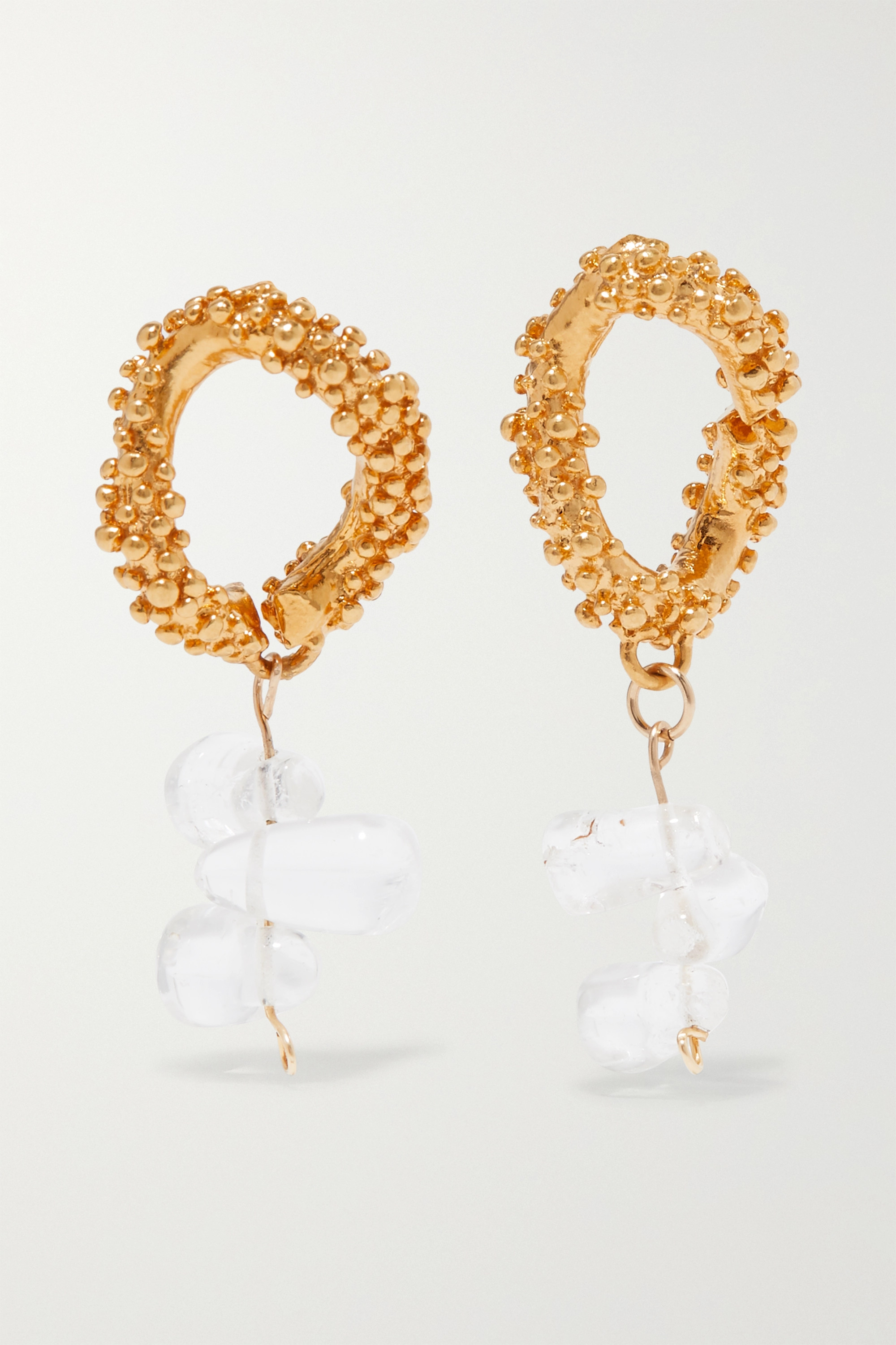 Alighieri The Midnight Glare gold-plated and glass earrings
