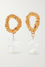 The Midnight Glare gold-plated and glass earrings
