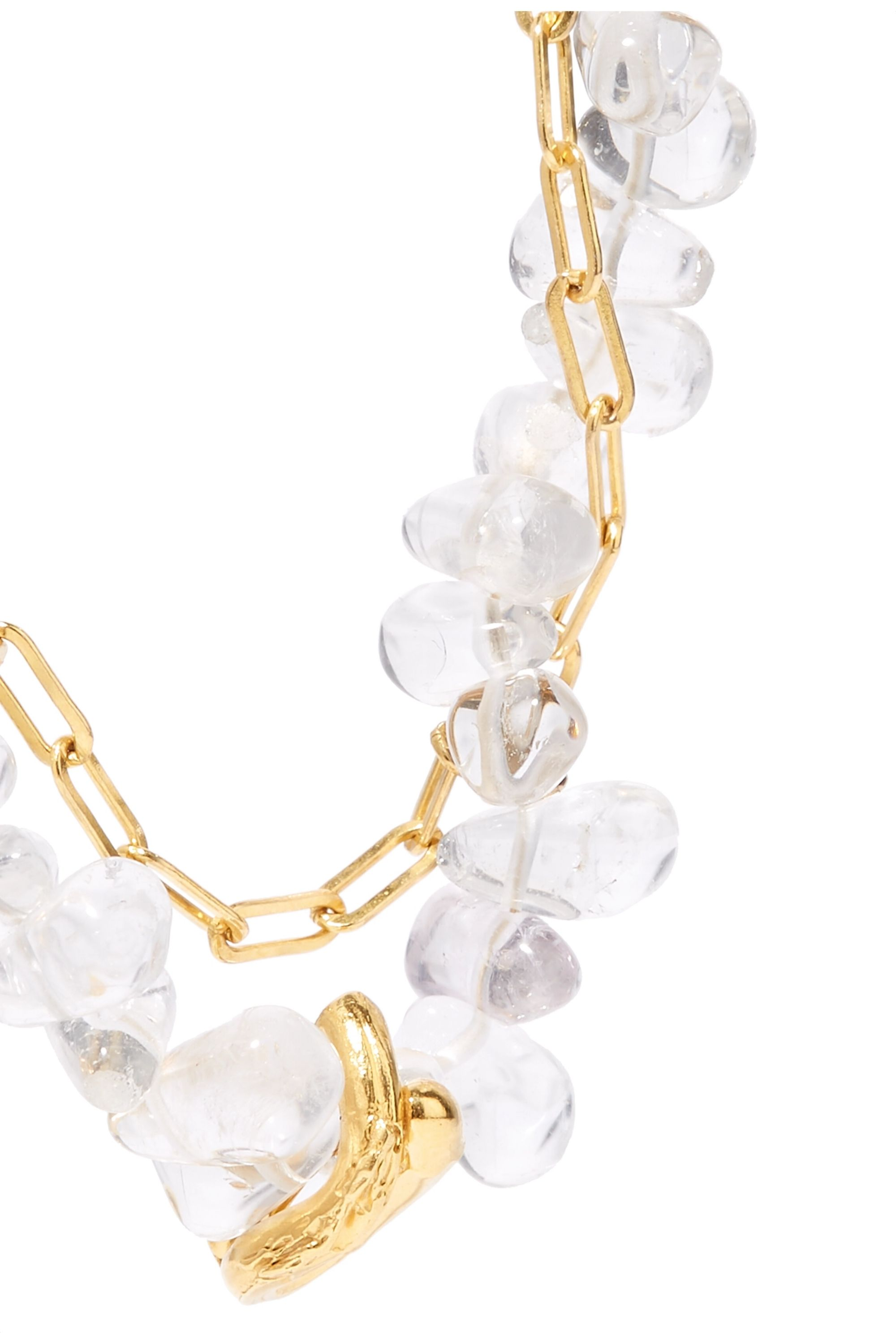 Alighieri The Infinite Light gold-plated and bead necklace