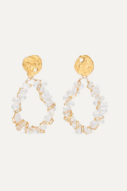 The Infinite Light gold-plated and bead earrings