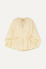 Roksanda Anya gathered cotton-poplin blouse