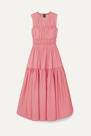 Roksanda Isilda gathered cotton-poplin midi dress