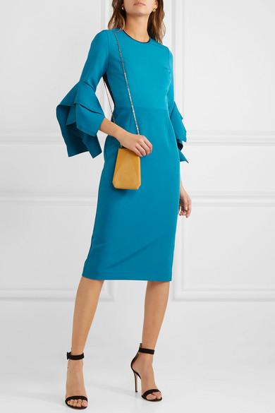 Roksanda Dresses Rhonda ruffled two-tone cady midi dress