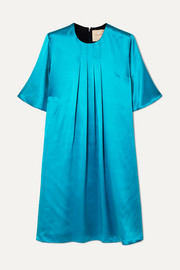 Roksanda Ada two-tone pleated silk-satin dress