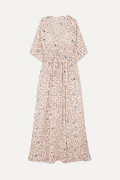 Eywasouls Malibu Eywasouls Malibu - Liliane Floral-print Cotton-voile Maxi Dress - Blush