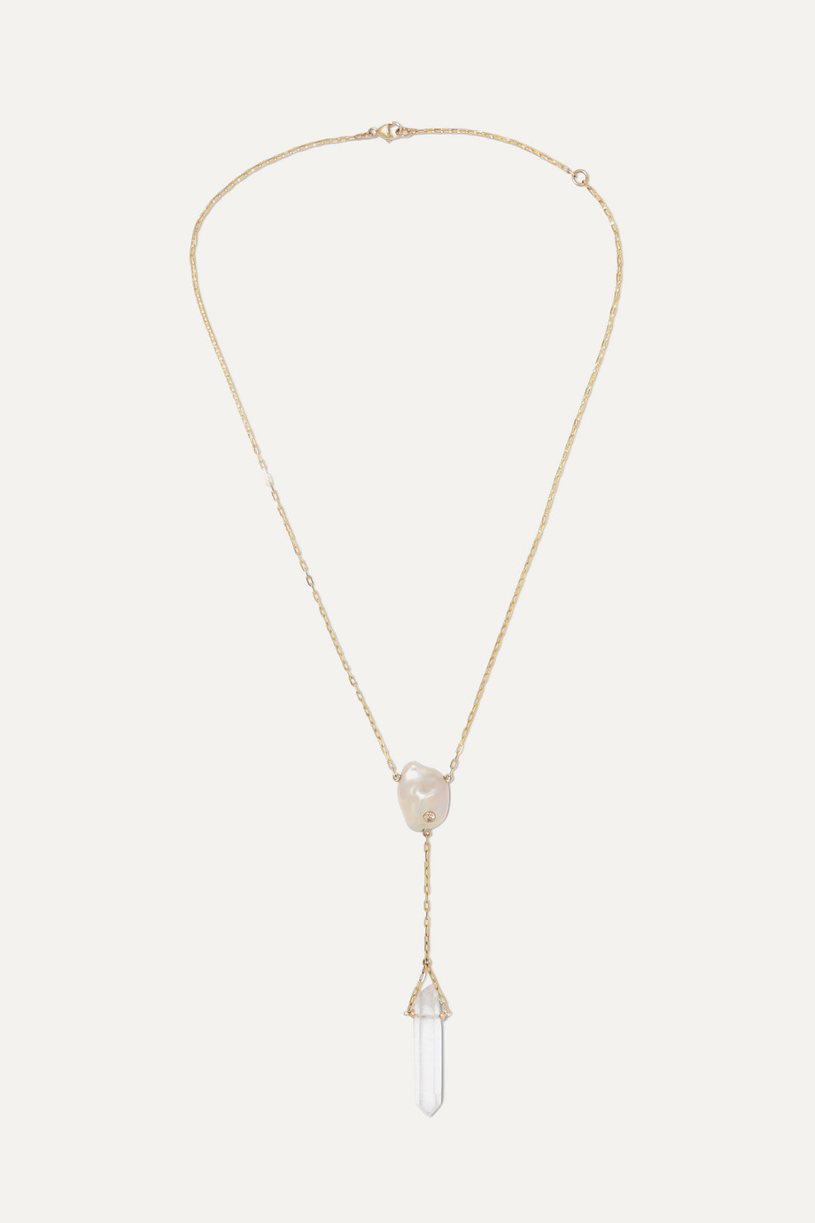 Harris Zhu 14-karat gold multi-stone necklace