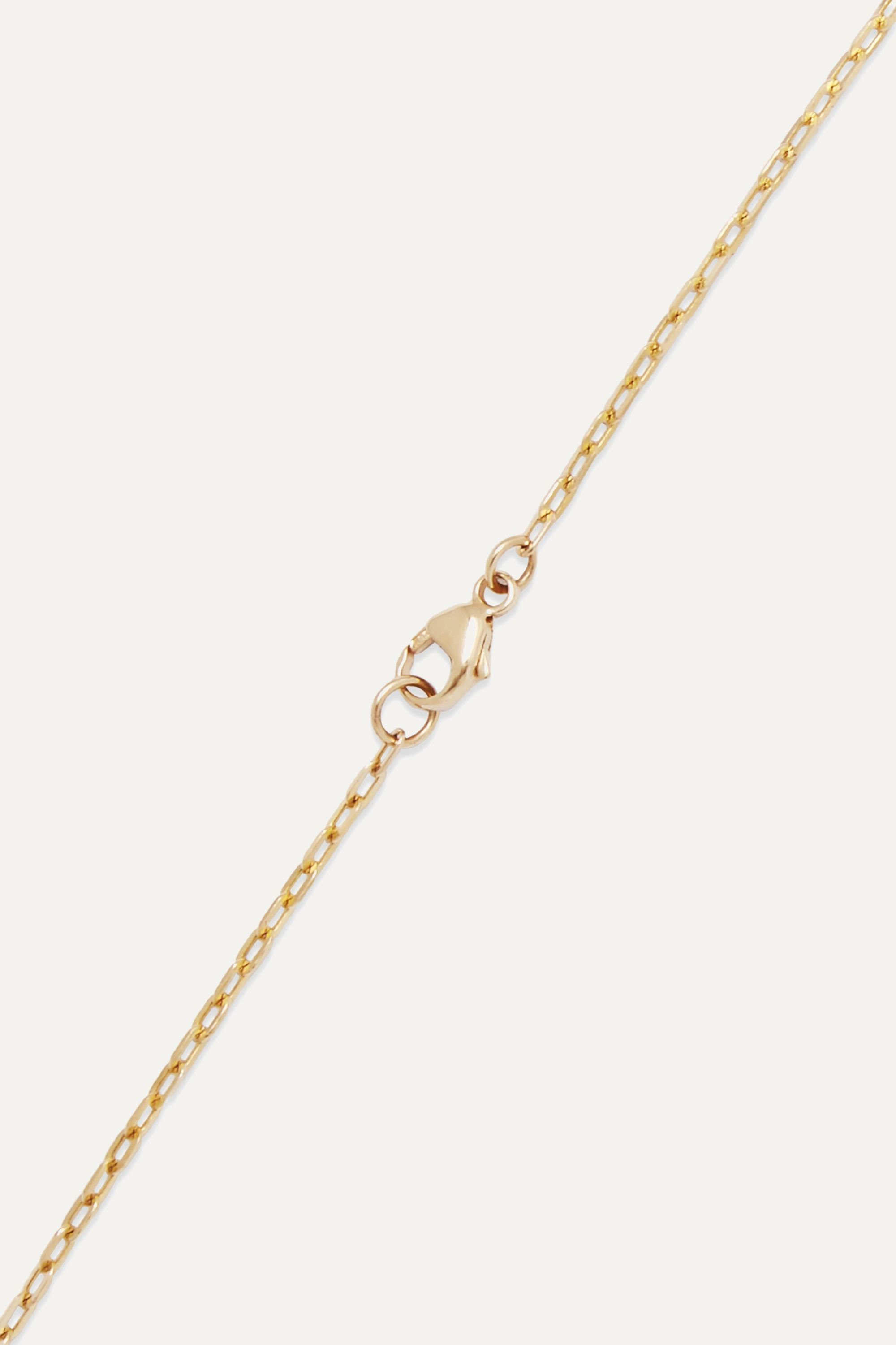 Harris Zhu Gold, crystal quartz and pearl necklace