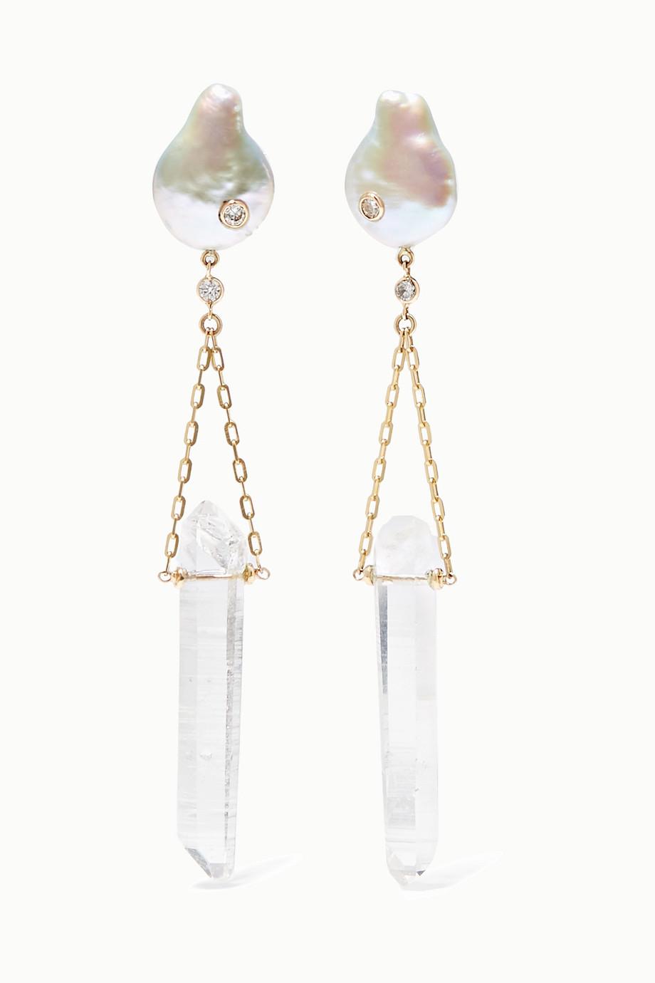Harris Zhu 14-karat gold multi-stone earrings