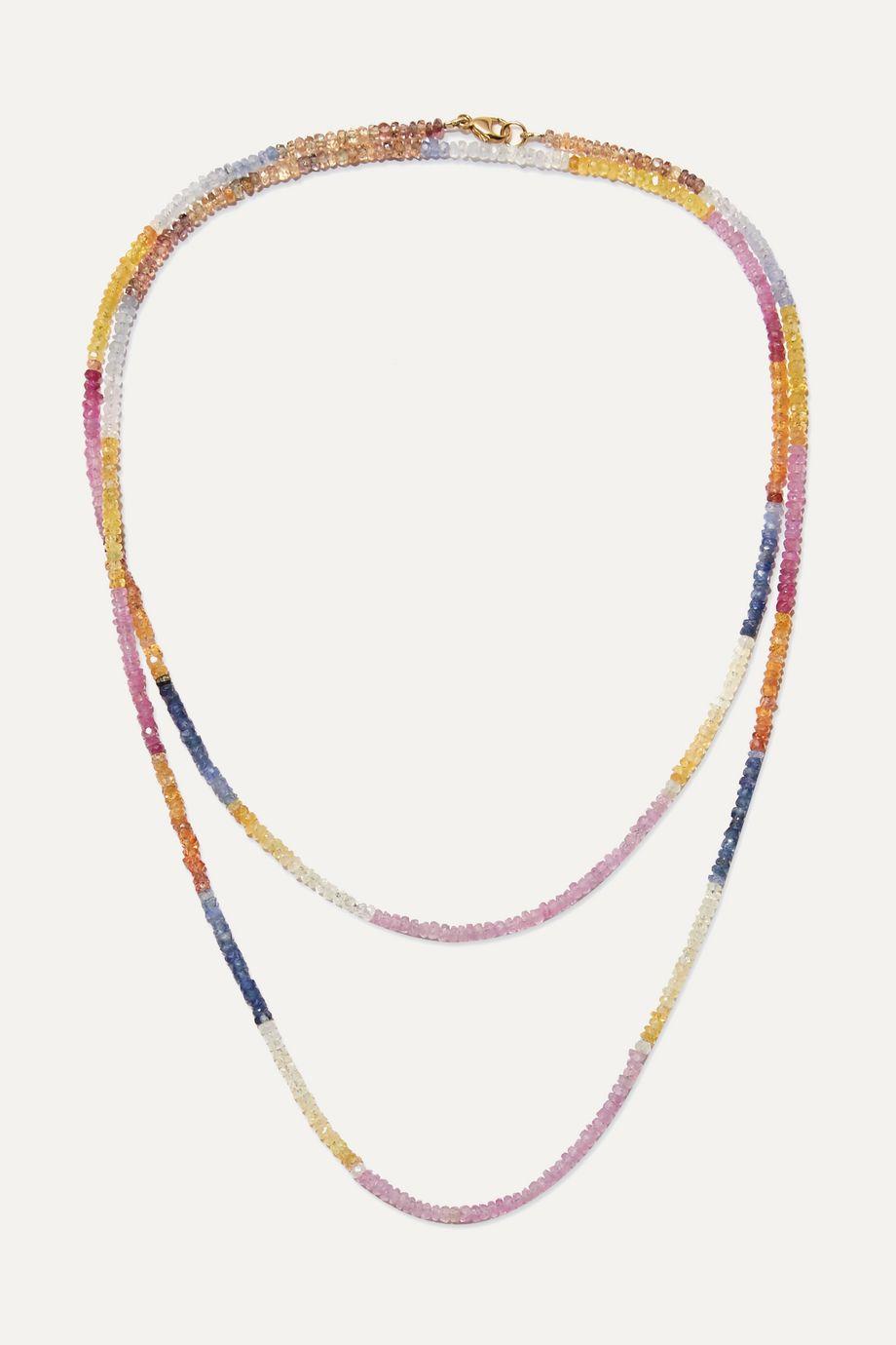 Harris Zhu 14-karat gold and multi-stone necklace