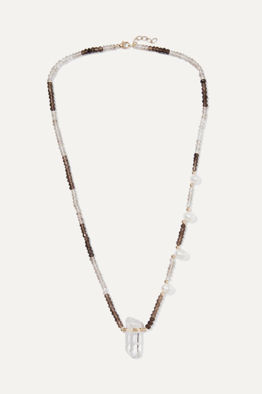 Harris Zhu 14-karat gold multi-stone necklace