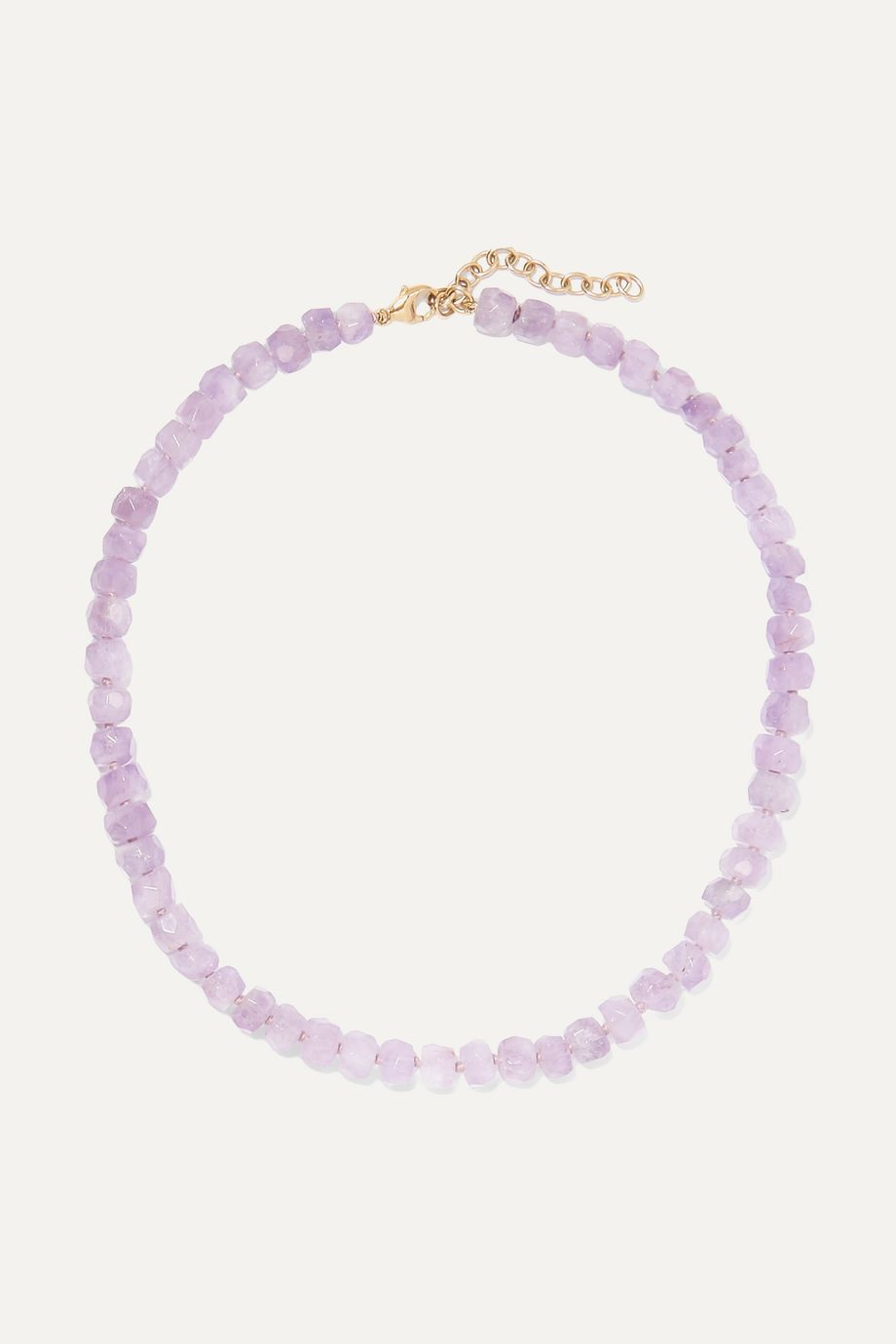 Harris Zhu 14-karat gold and amethyst necklace