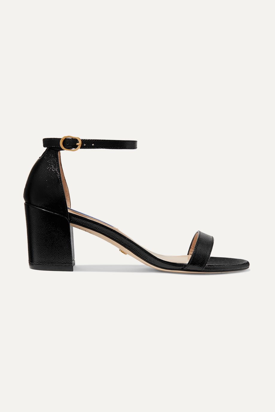 Stuart Weitzman Simple textured-leather sandals