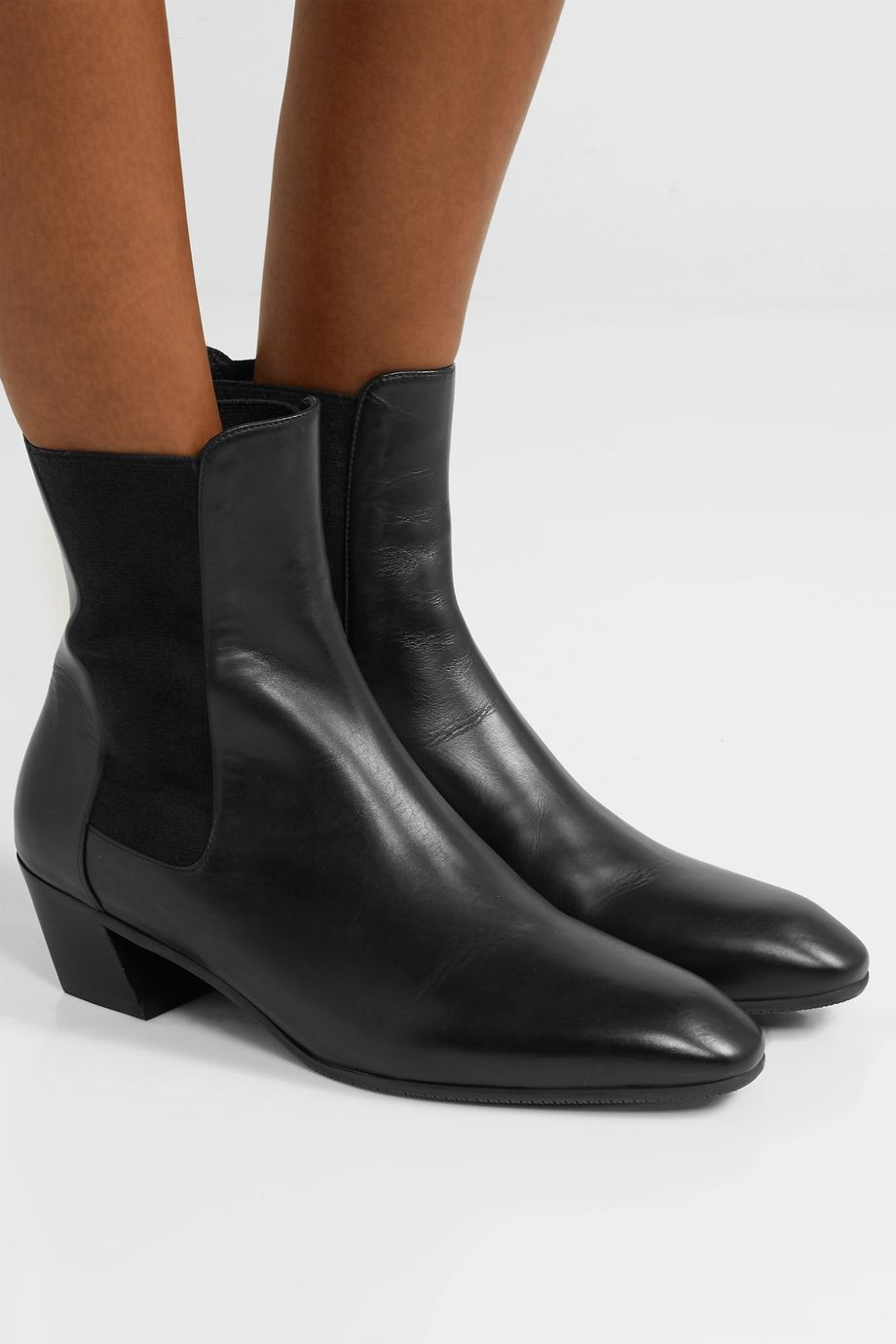 Stuart Weitzman Cleora leather Chelsea boots