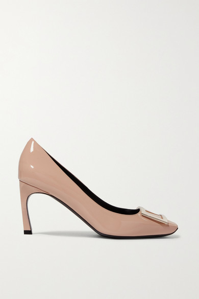 Roger Vivier Belle Vivier Trompette Pumps In Patent Leather In Neutral
