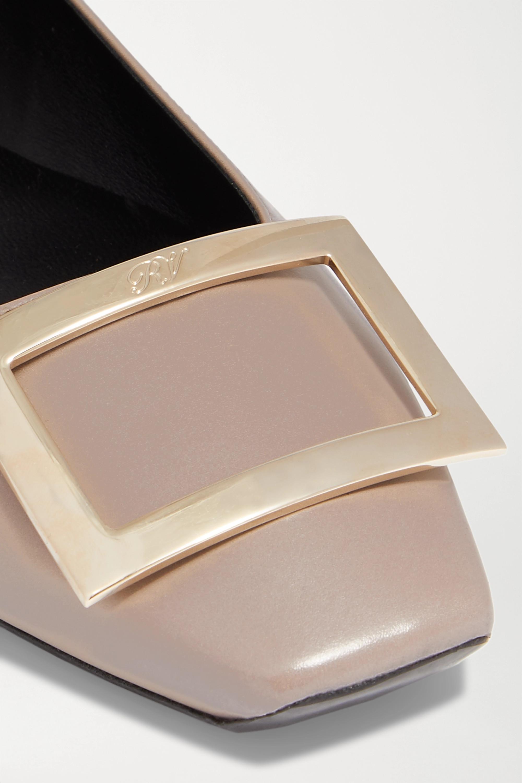 Roger Vivier Quadrata Trompette embellished leather ballet flats