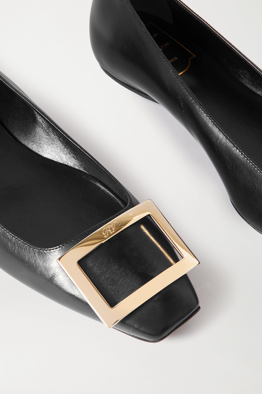 Roger Vivier Trompette Bellerine glossed-leather ballet flats