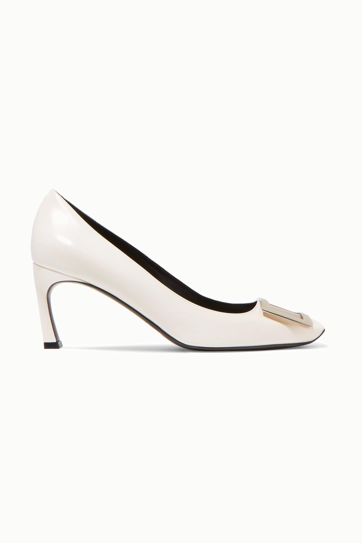White Belle Vivier Trompette leather