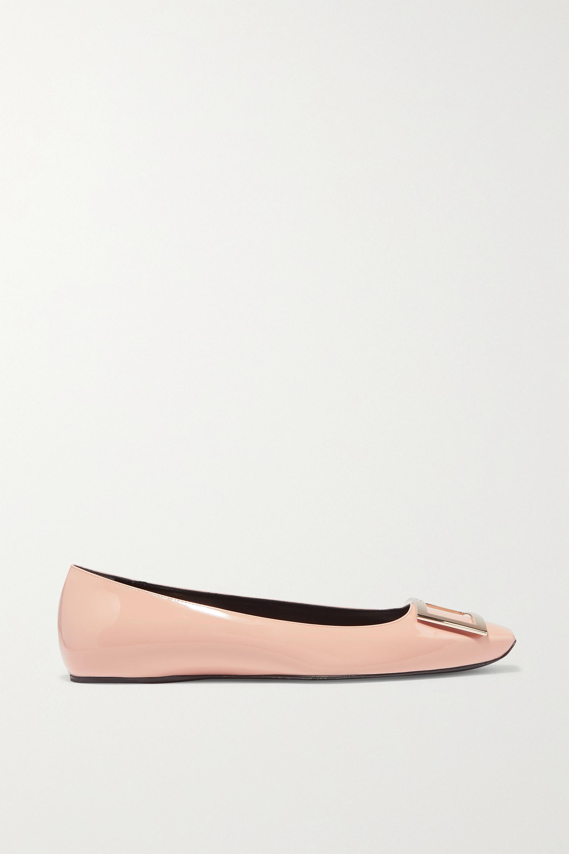 Roger Vivier Trompette Bellerine patent-leather ballet flats