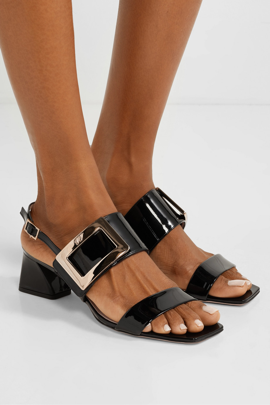 Roger Vivier Gommettine patent-leather slingback sandals