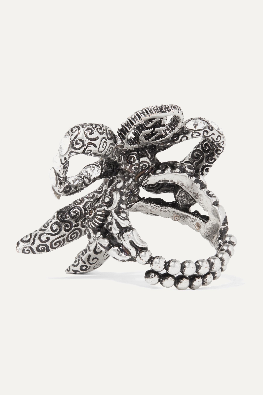 Gucci Palladium-tone crystal ring