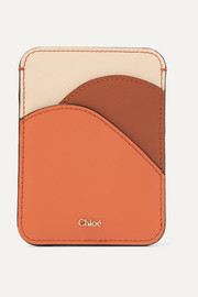 Chloé Color-block leather cardholder