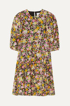 32724b1b93 Les Rêveries Floral-print silk crepe de chine mini dress