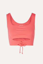 Year of Ours Corset lace-up cutout stretch sports bra