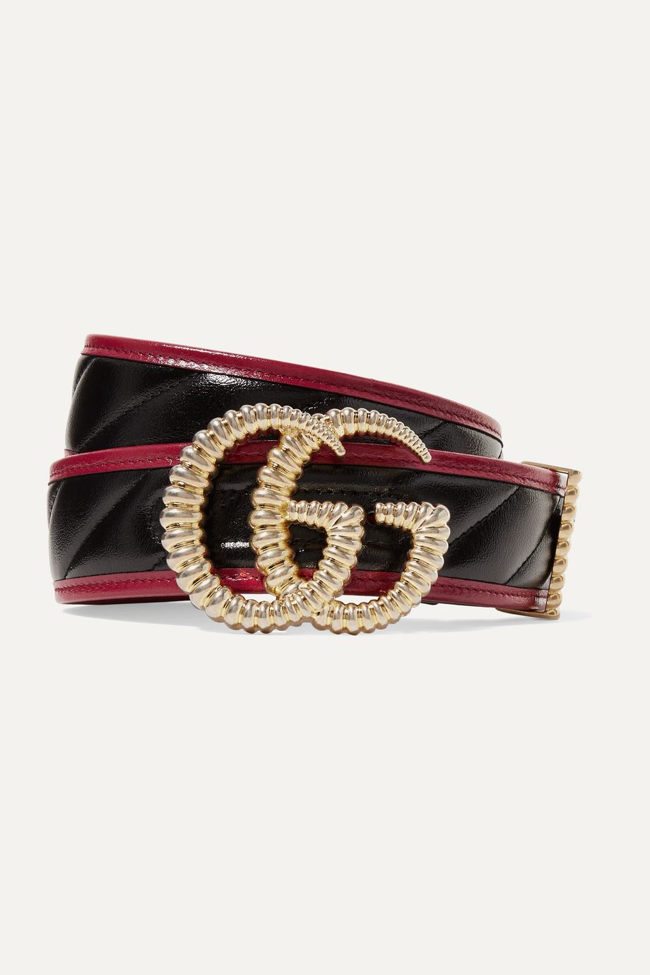 Gucci Two-tone quilted leather belt