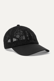 Gucci Cotton-twill and embroidered mesh baseball cap