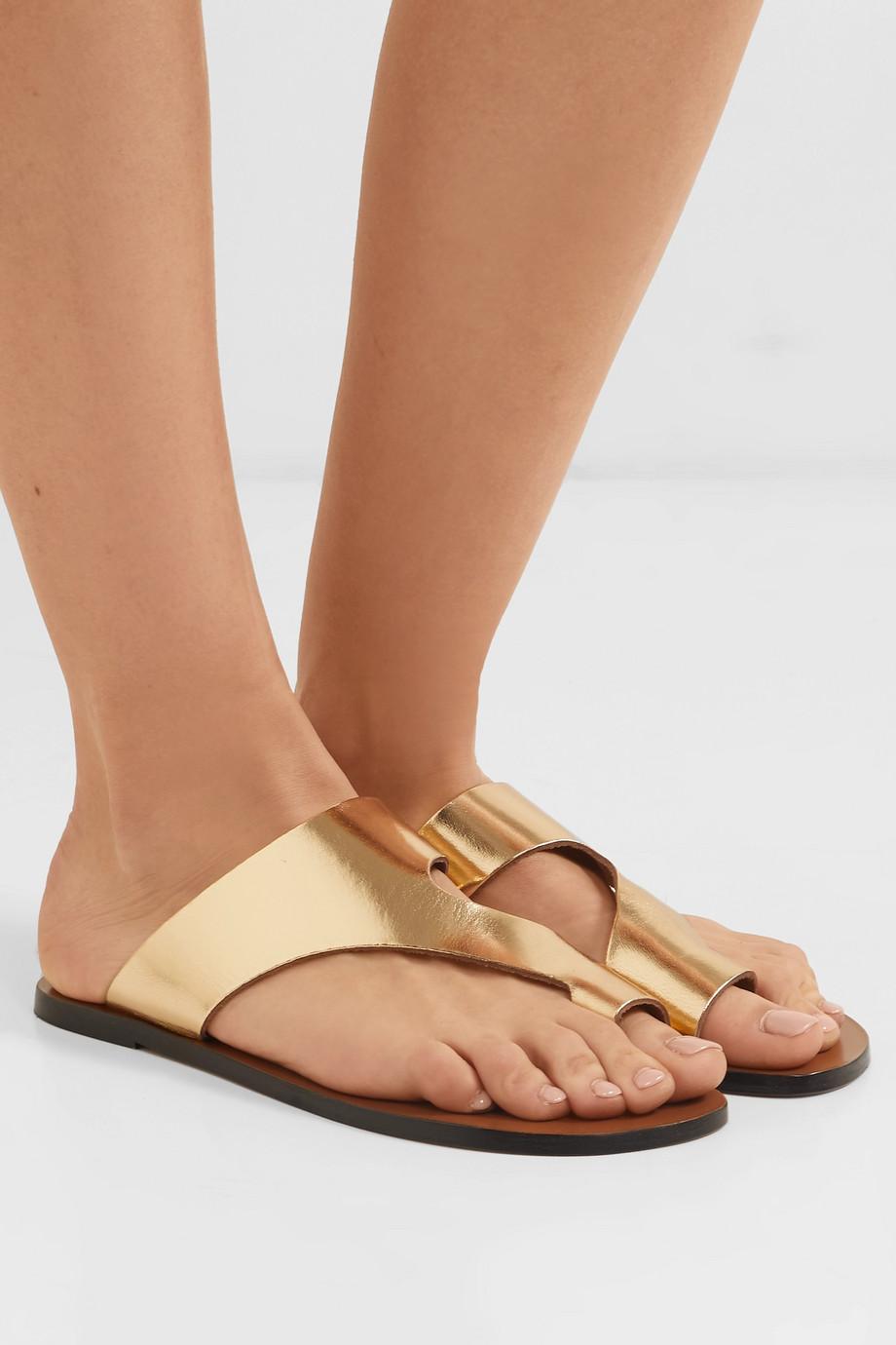 ATP Atelier Roma cutout metallic leather sandals