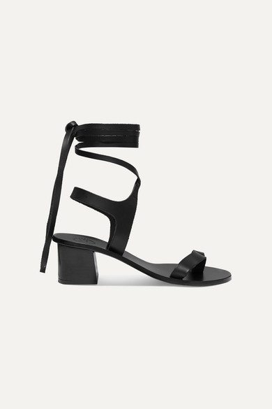 Atp Atelier Canda Leather Sandals In Black