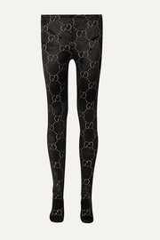 Gucci Wool-blend velvet-jacquard tights