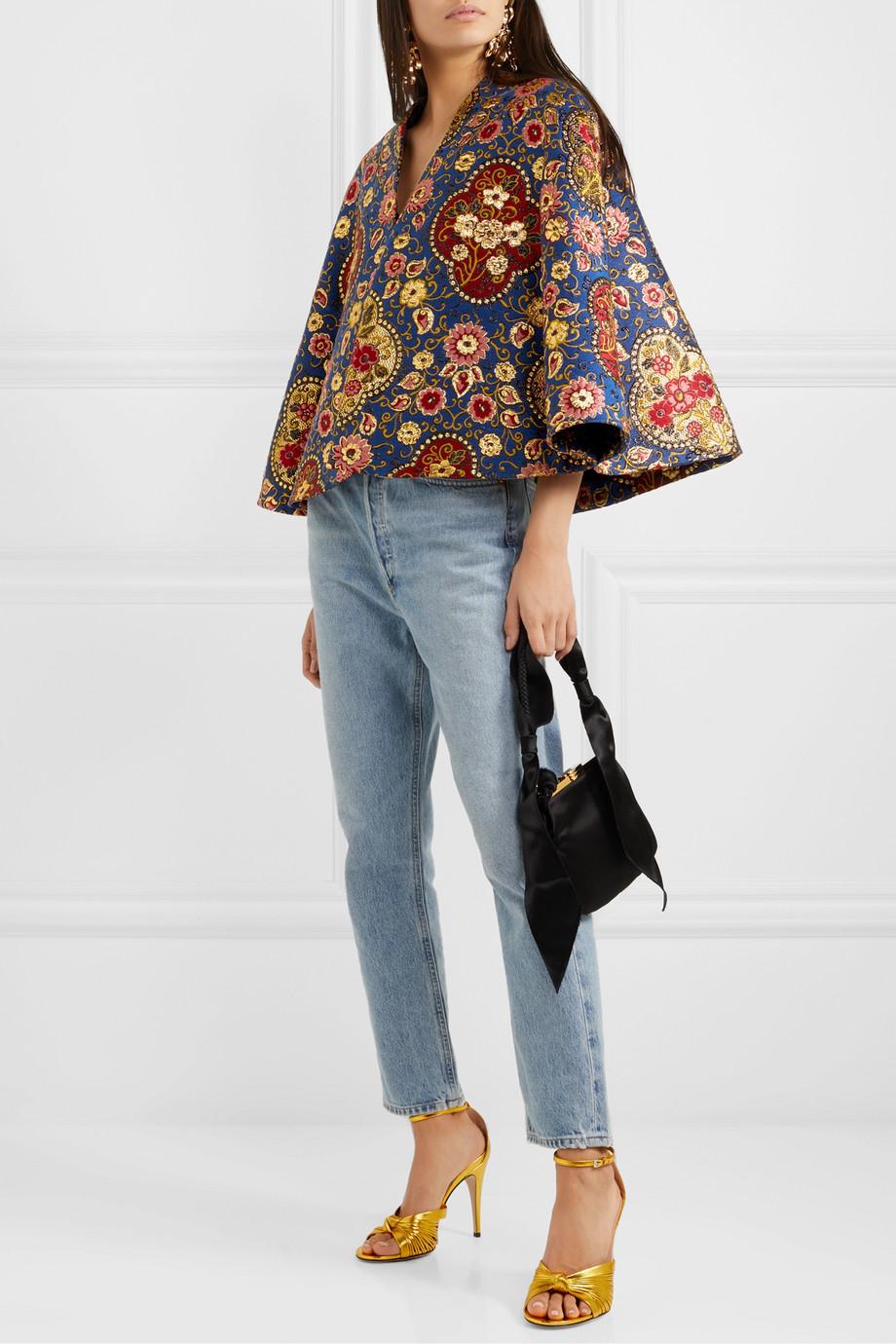 Gucci Floral brocade cape