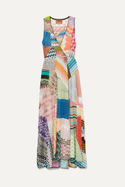 Missoni Patchwork crochet-knit midi dress