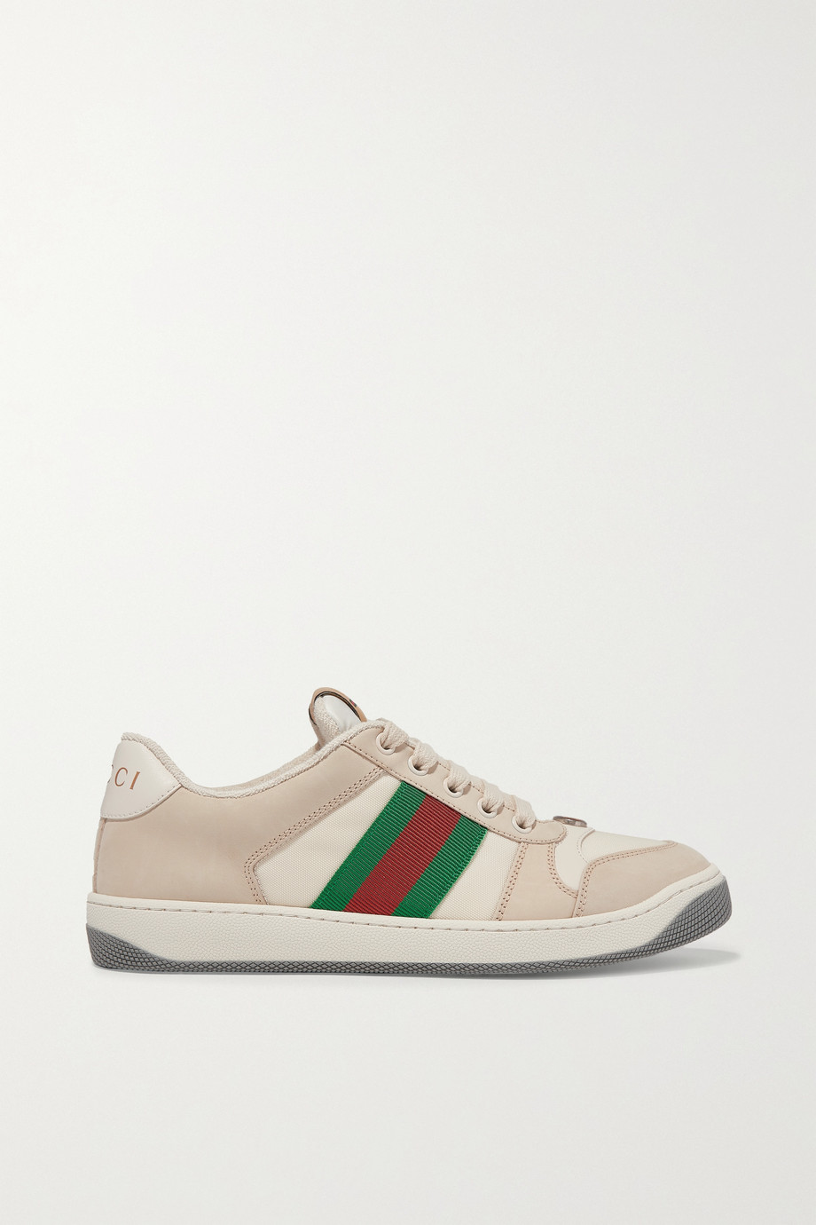 Gucci Screener canvas-trimmed leather sneakers