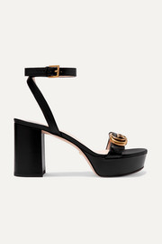 Marmont logo-embellished leather platform sandals