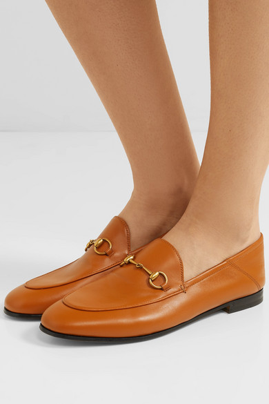 1b9714f78 Gucci | Brixton horsebit-detailed leather collapsible-heel loafers ...